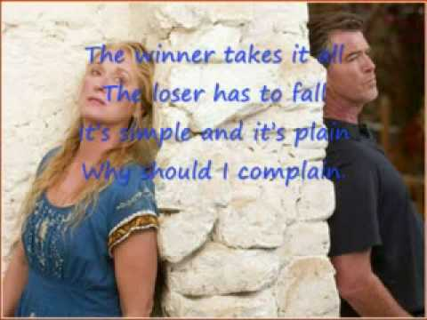 Mamma Mia The Movie Soundtrack -- The Winner Takes It All + Lyrics