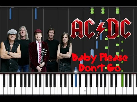 AC/DC - Baby Please Don't Go [Piano Cover Tutorial] (♫)