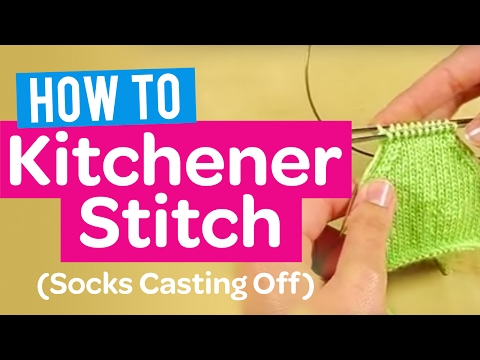 How to Kitchener Stitch (Socks Casting Off) - Quick Knitting Tutorial