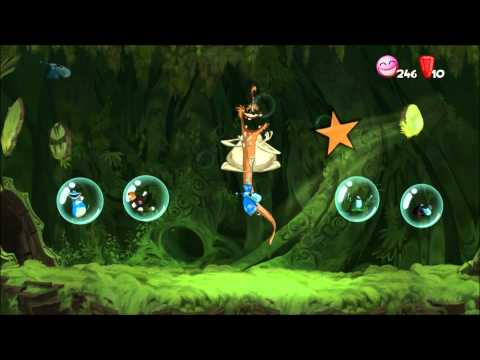 Rayman Origins (1080i HD) Walkthrough Bonus Part 1 - Bubble Dreamer's Costume Comments