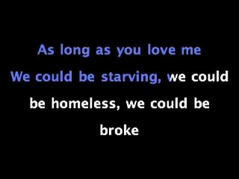 As Long As You Love Me Acoustic - Justin Bieber - KARAOKE SING ALONG with Lyrics