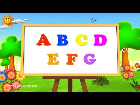 Alphabet Songs | ABC Songs for Children - 3D Animation Learning ABC Nursery Rhymes 3