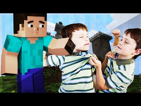 MINECRAFT TROLLING: Child Voice TROLL, *RAGE* , Brother Beatings!