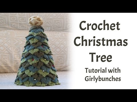 Learn to Crochet with Girlybunches - Crochet Crocodile Stitch Christmas Tree (Tutorial)