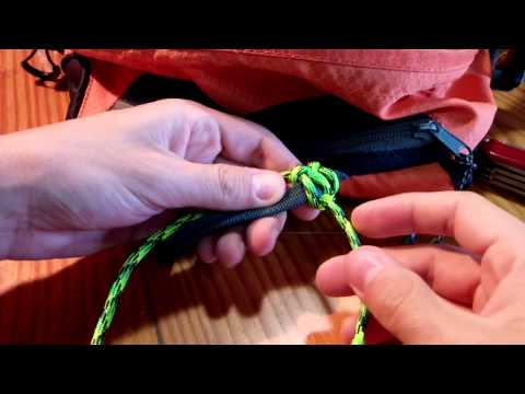 How to wrap a backpack handle with paracord ( tutorial Cobra stitch )