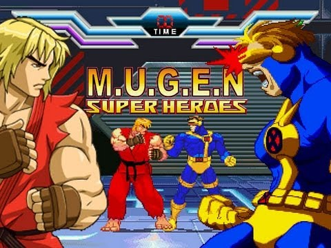 Super Heroes M.U.G.E.N -GamePlay (with download)