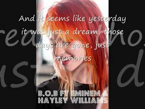 B.o.B ft. Eminem & Hayley Williams - Airplanes Lyrics