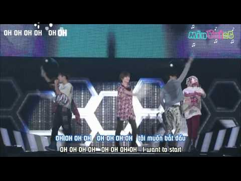 Start - SHINee ( live) [ Vietsub by 2C] Engsub + Roman