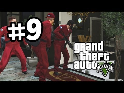 Grand Theft Auto 5 Part 9 Walkthrough Gameplay - Jewellery Store Heist - GTA V Lets Play Playthrough